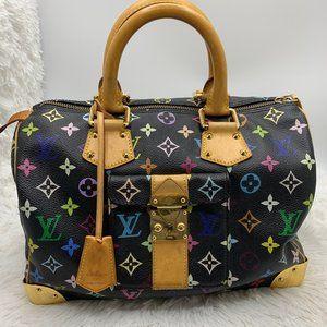 Louis Vuitton Multicolore black Speedy 30 bag Noir